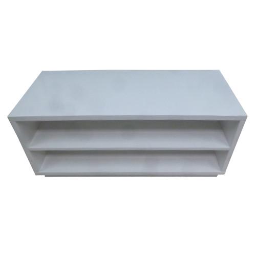 LYON 2 SHELF ENTERTAINMENT UNIT - 429(H) x 1000(W)- HIGH GLOSS WHITE