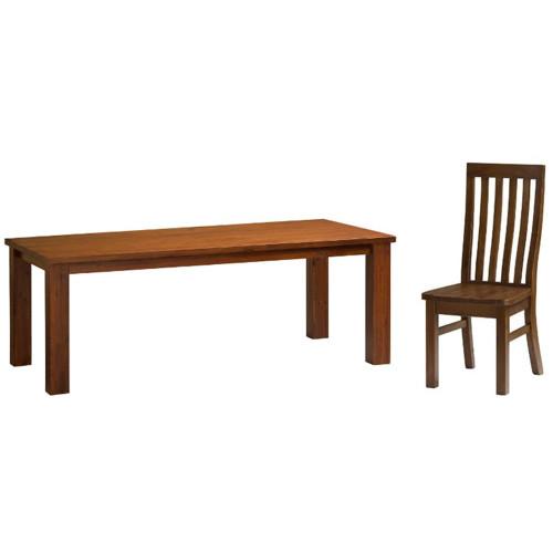PROVINCIAL II 9 PIECE SETTING WITH 2100(L) DINING TABLE - LIGHT WALNUT LA38