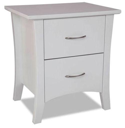 SAVANNAH (MODEL 19-15-8-15) 2 DRAWER BEDSIDE TABLE - 570 (H) x 510(W) - WHITE