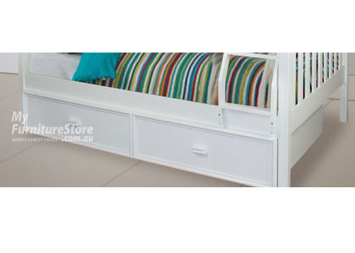 SINGLE RANCH TRUNDLE BED ONLY - ARCTIC WHITE