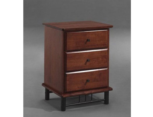 FRANKLIN 3 DRAWER BEDSIDE WITH D-HANDLE (PICTURED WITH CYLINDER HANDLE) - ANTIQUE OAK