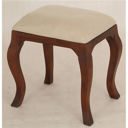 QUEEN ANN STOOL FOR DRESSING TABLE - 500(H) X 500(W)- MAHOGANY
