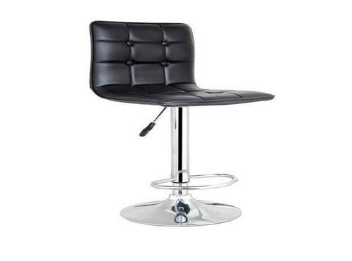 DINO LEATHERETTE GASLIFT  BARSTOOL - SEAT: 590-800(H) - (VJY-1071) - BLACK