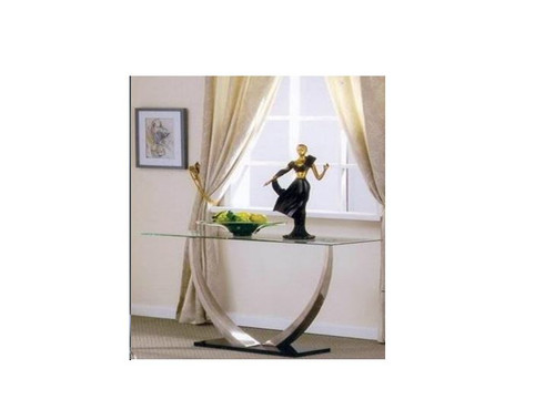 DECOR CONSOLE / HALL TABLE - 744(H) X 1200(W) X 450(D)- CLEAR GLASS