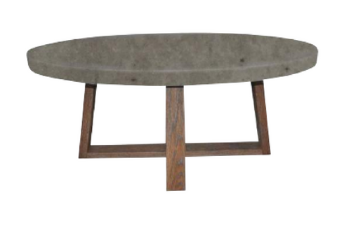 COPACABANA OVAL COFFEE TABLE -  1200(W) x 650(D) - CONCRETE TOP