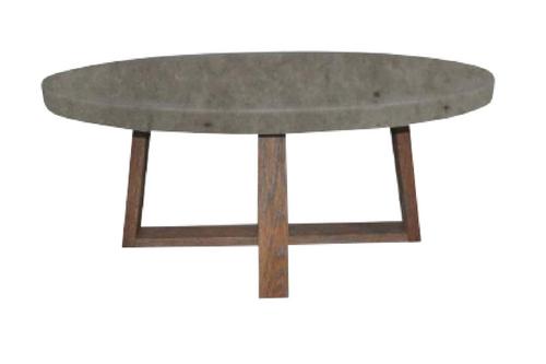 COPACABANA OVAL COFFEE TABLE - 1200(W) x 650(D) - CONCRETE TOP