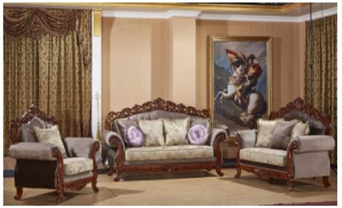DIETHER SOFA FABRIC LOUNGE SUITE 3+2+1 - AS PICTURED