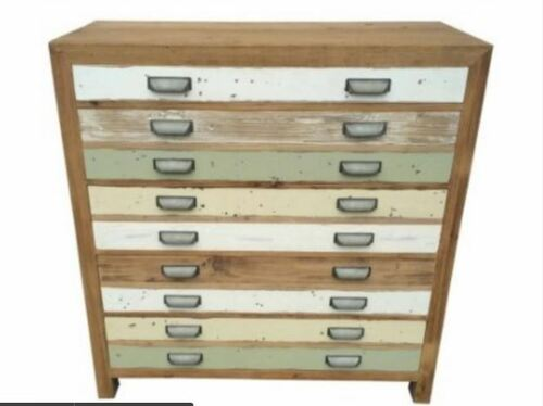 TREND (VTR-021) 5 DRAWERS  TALLBOY  CHEST- 1100(H) X 1050(W) - LIGHT COLOURFUL