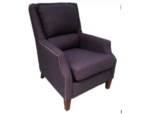BUNGALOW FABRIC UPHOLSTERED ARM CHAIR - CHARCOAL