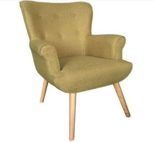 DUKE SCANDINAVIAN WING ARM CHAIR - BEIGE