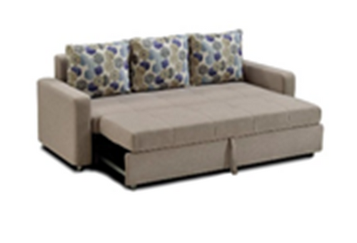 LOGAN  (MODEL-3095) 3 SEATER FABRIC CLICK CLACK SOFA BED - ASSORTED COLOURS