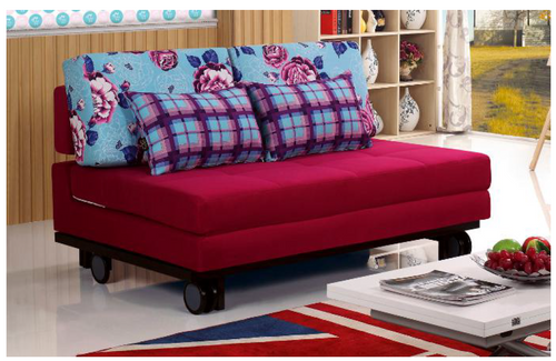 GAVIN   (MODEL-3071) 3 SEATER FABRIC CLICK CLACK SOFA BED - ASSORTED COLOURS