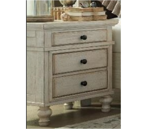 TENTERFIELD 3 DRAWER BEDSIDE TABLE (MODEL:B712-93)  - TEXTURE WHITEWASH