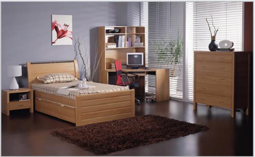 new style 77e19 c9d73 MILAN KING SINGLE 4 PIECE (STUDY DESK) BEDROOM SUITE - BEECH ...