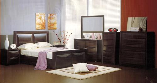 EVITA DOUBLE OR  QUEEN 4 PIECE TALLBOY   BEDROOM SUITE  -WALNUT