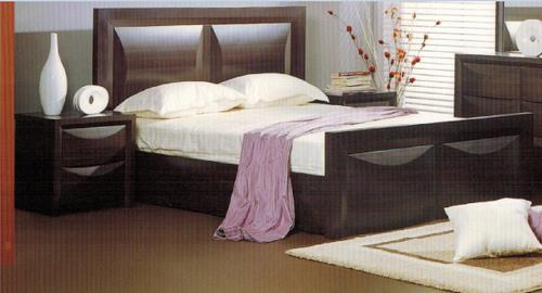 EVITA DOUBLE  QUEEN 3 PIECE BEDSIDE BEDROOM SUITE  -WALNUT