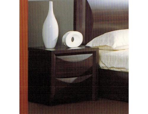 EVITA 2 DRAWER BEDSIDE TABLE - WALNUT
