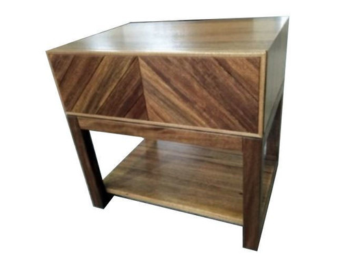 KALISTA ONE  DRAWER BEDSIDE TABLE - SOLID  AFRICAN OAK HARDWOOD - AS PICTURED