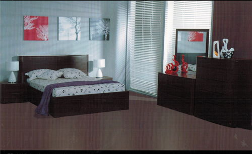 MANDELA    DOUBLE OR  QUEEN 4  PIECE (TALLBOY) BEDROOM SUITE  - (MODEL:TR1003)- WALNUT