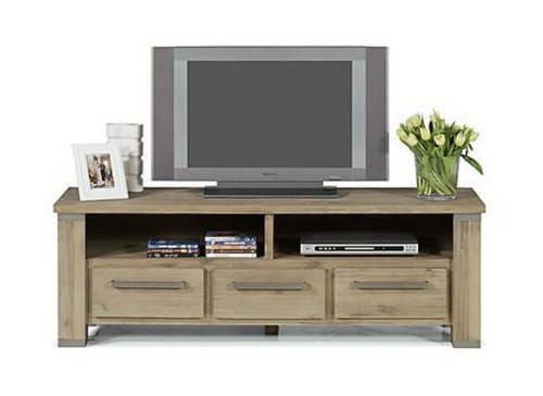 INTRO  TV CABINET WITH 3 DRAWERS, 2 NICHES 520(H) x 1570(W) - CARAMEL