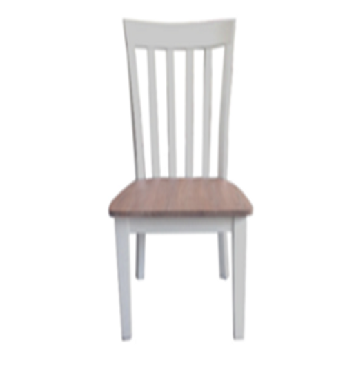 INTRO TIMBER DINING CHAIR - WHITE / CARAMEL