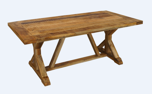 FOUNDRY REFECTORY DINING TABLE 2000(L) x 1000(D) - RUSTIC MANGO