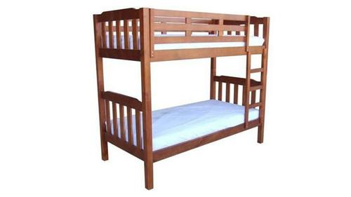 SINGLE SOMERSET (MODEL 1-4-5-12-1-9-4-5) BUNK BED - CHESTNUT