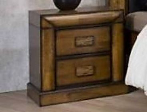 BROOKLYN 2 DRAWER BEDSIDE TABLE - ANTIQUE MERONI FINISH