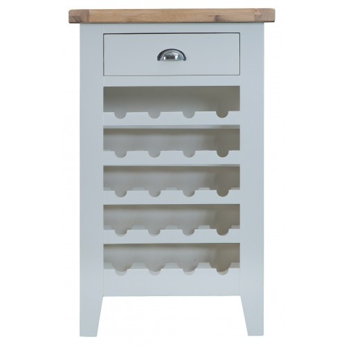 ARBETTA (TT-WC-W) 20 BOTTLE WINE CABINET WITH 1 DRAWER - 960(H) X 600(W) X 300(D) - TWO TONE