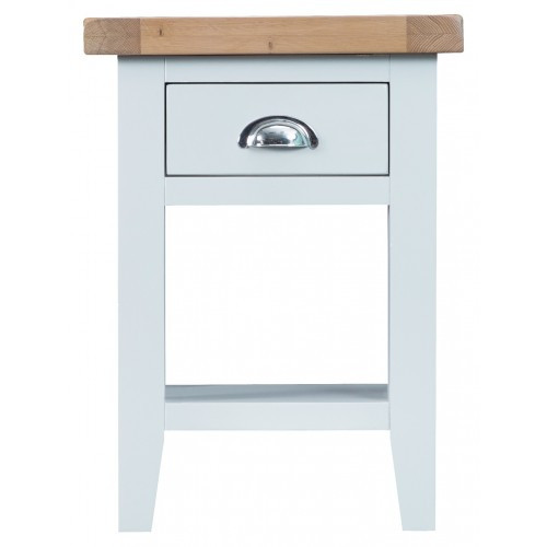 ARBETTA (TT-SIT-W) SIDE TABLE WITH ONE DRAWER - WHITE / WHITE
