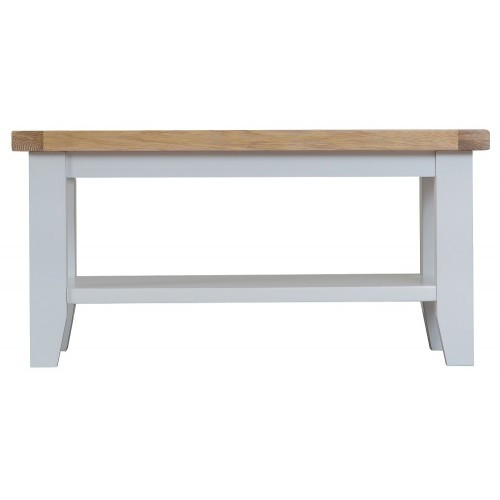 ARBETTA (TT-SCT-W)  SMALL COFFEE TABLE - 900(W) X 500(D) - WHITE / OAK