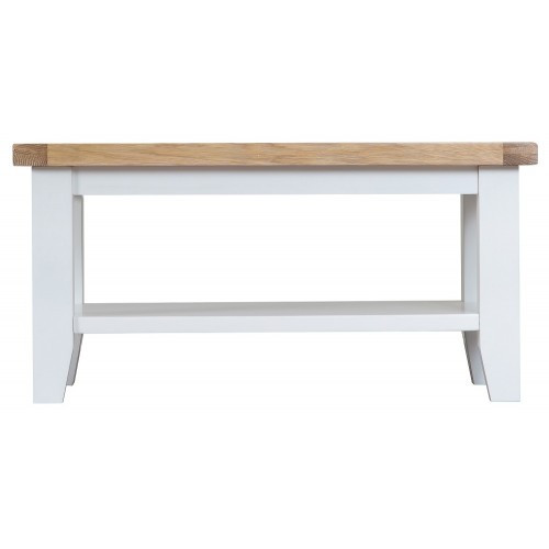 ARBETTA (TT-SCT-W)  SMALL COFFEE TABLE - 900(W) X 500(D) - WHITE / OAK