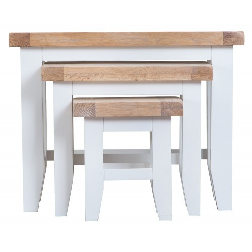 ARBETTA (TT-N3T) NEST OF 3 TABLES - TWO TONE