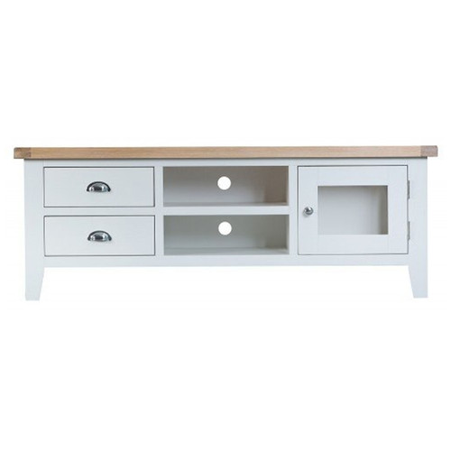 ARBETTA (TT-LTV) LARGE TV UNIT WITH 1 DOOR / 2 DRAWERS - 550(H) x 1500(W) - TWO TONE