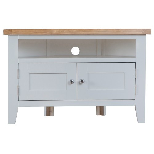 ARBETTA (TT-CTV) CORNER TV UNIT WITH 2 DOORS - 650(H) x 1000(W) - TWO TONE