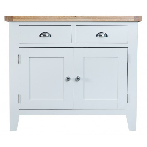 ARBETTA (TT-STS-W) 2 DOOR / 2 DRAWER SIDEBOARD - 850(H) X 1000(W) - WHITE / OAK