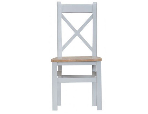 ARBETTA (TT-CBCW) CROSS BACK WOODEN SEAT DINING CHAIR - TWO TONE