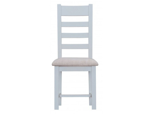 ARBETTA (TT-CHF) LADDER BACK FABRIC SEAT DINING CHAIR - TWO TONE