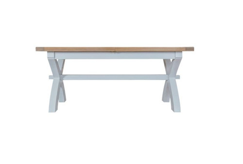 ARBETTA  (TT-18ET+SBEN) CROSS EXTENDING TABLE 1800 - 2300(L) X900(W) WITH 2X 1800(W) BENCHES - TWO TONE