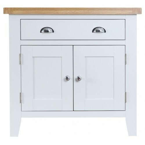 ARBETTA  (TT-SMS) 2 DOOR /1 DRAWER SMALL SIDEBOARD-  800(H) X 850(W)  - TWO TONE