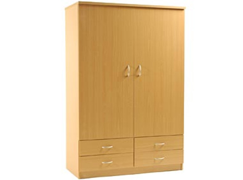 FAIRMONT  2 DOOR 4 DRAWER ROBE -1800(H) X 1200(W) - ASSORTED COLOURS AVAILABLE