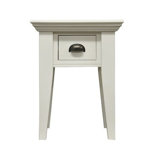 DELAN (WW-094) LAMP TABLE WITH DRAWER -  ANTIQUE WHITE