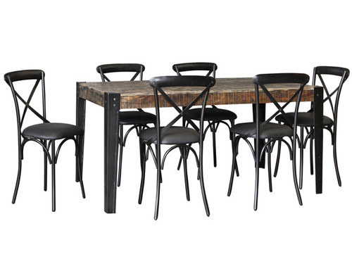 CITY LIVING 1780 DINING TABLE ONLY  1785(L) X 905(W) - BLACK DISTRESSED