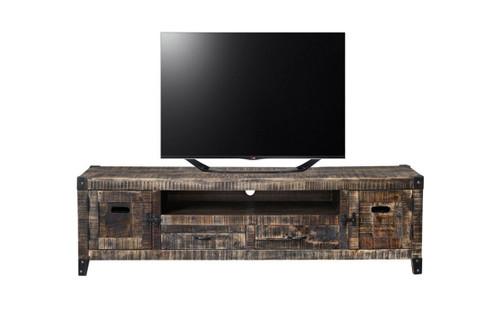 CITY LIVING TV UNIT -  515(H) X 2050(W)-BLACK DISTRESSED