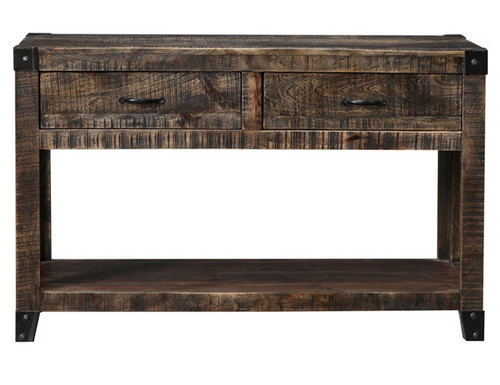 CITY LIVING CONSOLE HALL TABLE - 770(H) X 1210(W) X 405(D) - BLACK DISTRESSED