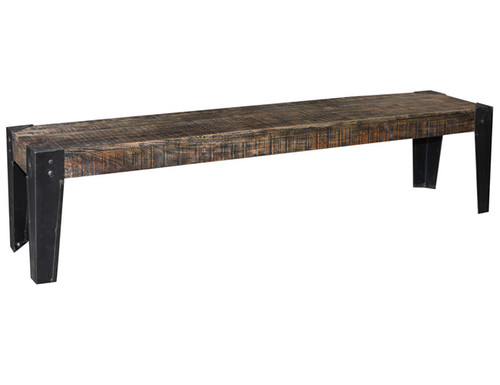 CITY LIVING 1870 DINING BENCH -465(H) X 1780(W) - BLACK DISTRESSED
