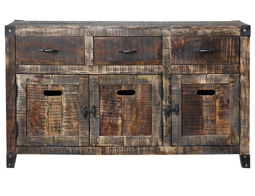 CITY LIVING SIDEBOARD BUFFET - 865(H) X 1480(W)  - BLACK DISTRESSED