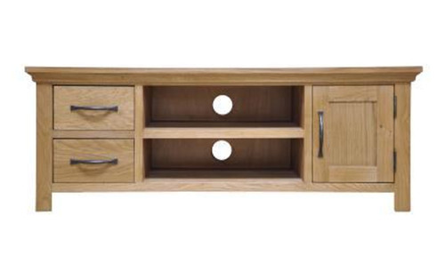 ADELAIDE (WAN-LTV)  LARGE   TV UNIT WITH 1 DOOR / 2 DRAWERS 450(H) X 1200(W) - NATURAL