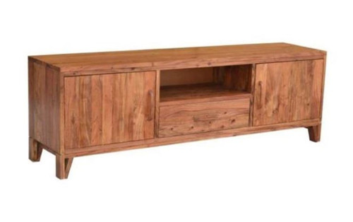 ALBERTA  2 DOOR 1 DRAWER ENTERTAINMENT UNIT -650(H) X 2000(W)- NATURAL