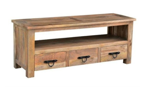 CHELSEA TV CABINET 3 DRAWER 1 SHELVES - 600(H)  X 1500(W) - FRENCH GREY